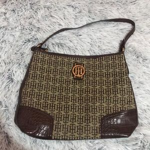 Tommy Hilfiger Brown Logo Handbag